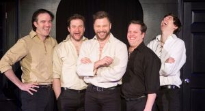 Blaine Swen (center) founded the Improvised Shakespeare Company in 2005. The ISC has since performed around the continent, with appearances Off Broadway and at the famous Just For Laughs festival in Montreal among their credits.  Photo courtesy: The Independent Shakespeare Company.