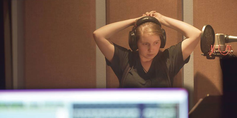 Estar Cohen works in the studio on her upcoming project.