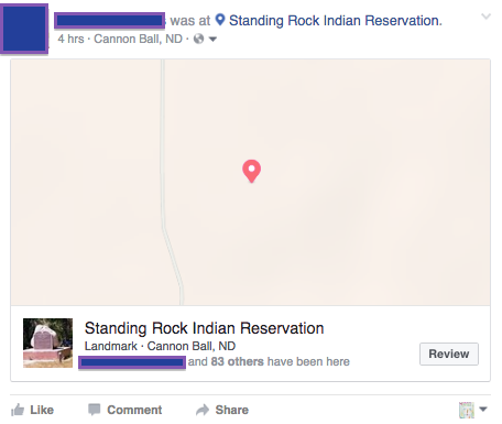 How Facebook 'check-ins' are used to protest Dakota gas pipeline