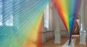 PHOTO CREDIT: 'Gabriel Dawe, Plexus A1, 2015.  Renwick Gallery of the Smithsonian American Art Museum. Courtesy Conduit Gallery, photo by Ron Blunt