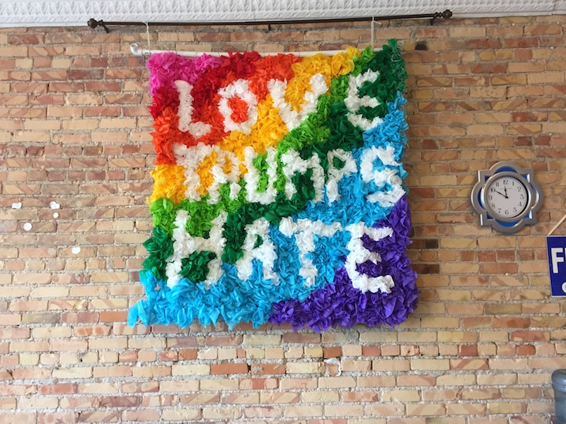 Clearly, a lot of love went into making this wall piece.