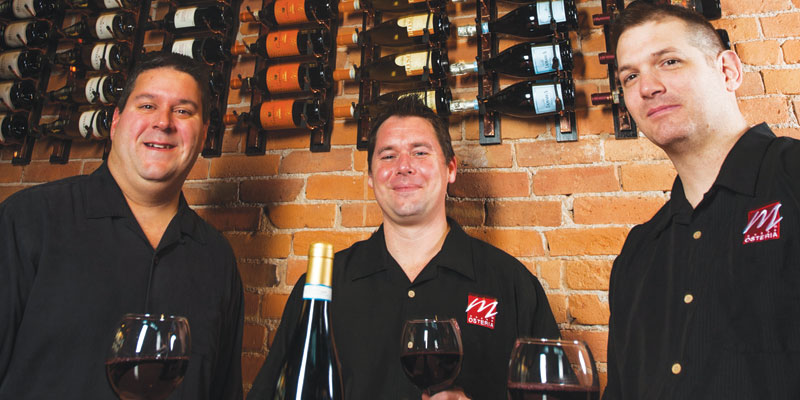 (L-R) Shawn Chowdhary Matt Fredericks, bar manager, James Adkins, Front of house manager