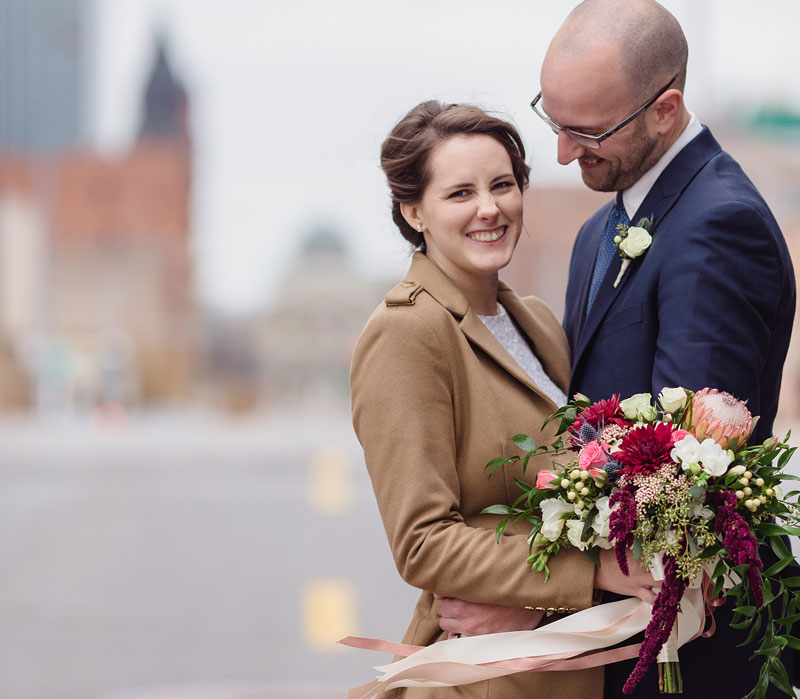 Societal norms and excited families pushed Bryan and Catie Price into planning a big wedding,but their own personalities forced them to simplify. Photo Credit: Mary Wyar Photography