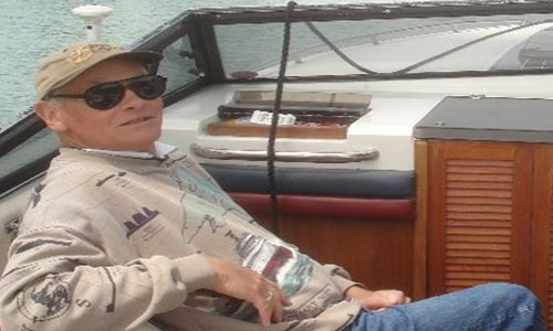 Greg Knott, founder of Bretz Nightclub, at sea.