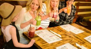 Fowl and Fodder's bright and healthy juices and smoothies are a gluten-free option that everyone loves.