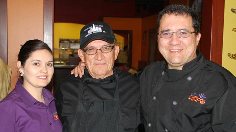 Lupita Mendez, Carlos Senior and Carlos Mendez.