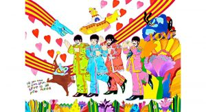 """Ron Campbell, legendary animator of the """"Beatles"""" cartoon series and more, to exhibit his work at River House Arts on October 17 and 18."""