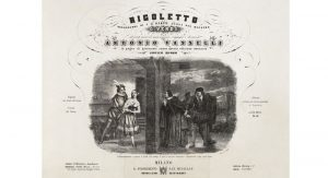 """Bella figlia dell'amore"" scene, depicted by Roberto Focosi in an early edition of the vocal score. Photo Credit: Wikipedia."
