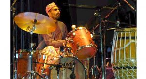 Kahil El'Zabar on drums. The Ethnic Heritage Ensemble has played Toledo only once before— a gig three decades ago at the Toledo Museum of Art. Photo courtesy: Kahil El'Zabar.