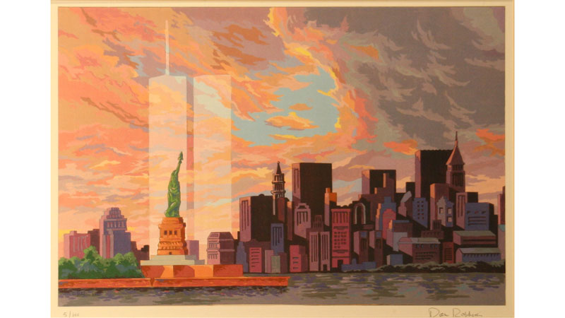 """Gone But Not Forgotten"" by Dan Robbins,, 5 of 100, serigraph of commemorative Paint By Number design."