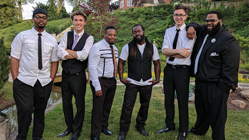 (L-R) Keith Ransey Jr. , Kaiden Chase, Art Bishop, Del Ray Grace Jr., Kenton Davey, and Big C Coley. Not pictured: Kenny Hines and Trez Gregory.