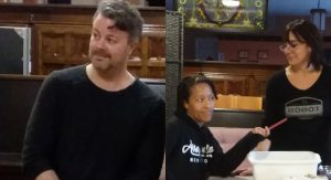 "(Left) John DuVall (above) as Nate in A Life.  ""We've worked together so much, we have a familiarity with one another and sort of speak the same language,""  director Albright said. (Right) Reina Mystique and Gabrielle Southwell rehearse A Life. Both actors will play  multiple roles in the production."