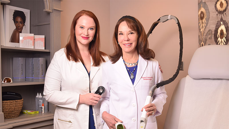 Dr. Sarah Stierman MD, and Dr. Christy Lorton, MD, Ada Aesthetics/Dermatology Associates.