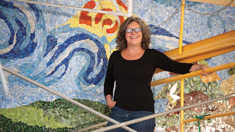 Local artist Gail Christofferson.