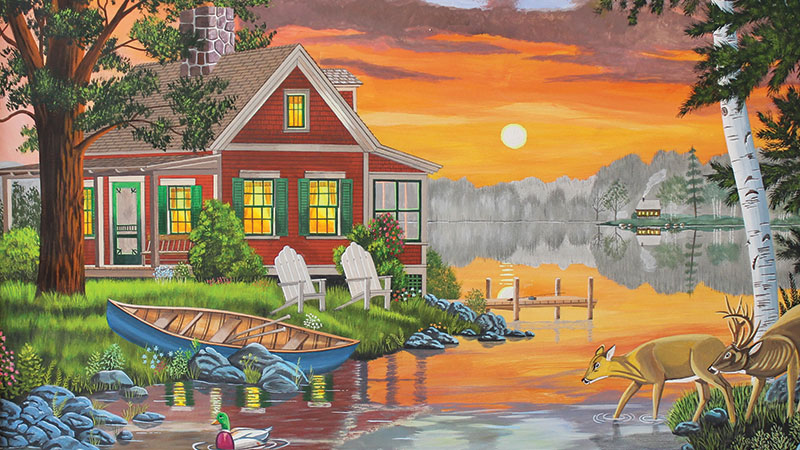 "PRIZM's last exhibit, ""Dreamscapes, Small town Americana,"" paintings by Art Shumaker (one of which is pictured above), is on view at the Way Public Library through the end of July."