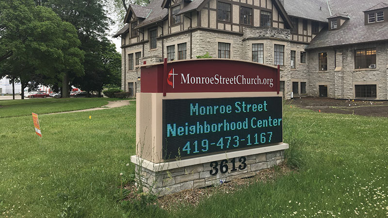 The Neighborhood Center is located in the Monroe Street United Methodist Church at 3613 Monroe St. in Toledo.