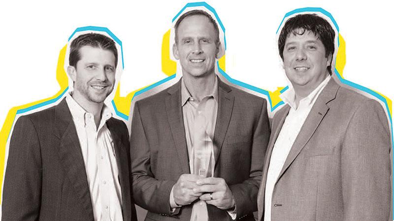 Owners (L-R) Brian Burns, Jeff Erickson, and Brad Burns.
