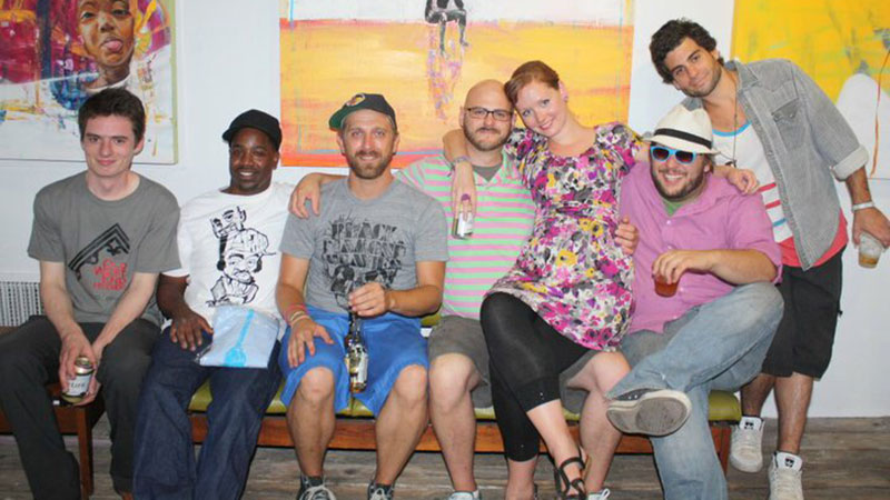 Left to right: Ben Langlois, Yusuf Lateef, Jerry Gray, Dustyn Bork, Carli Dahl, Ryan Bunch, and Phillip Kaplan.