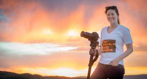 Lexi Jamieson Marsh in Wyoming.