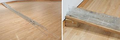 Loraine Lynn, 85 hours, glass, wood, brick, zip ties