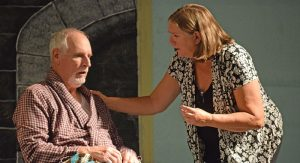 (L-R) Bill McCloskey acts the part of Walter Adams and Mary Kurtz plays Alexandra Stevens.