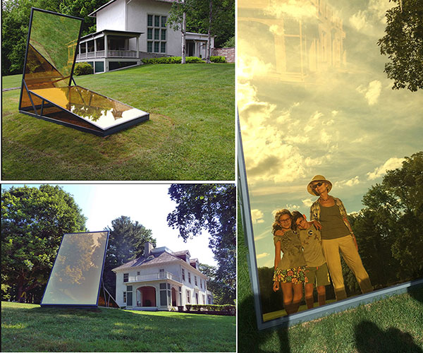 Tom Patti, EARTH/SKY, glass, steel
