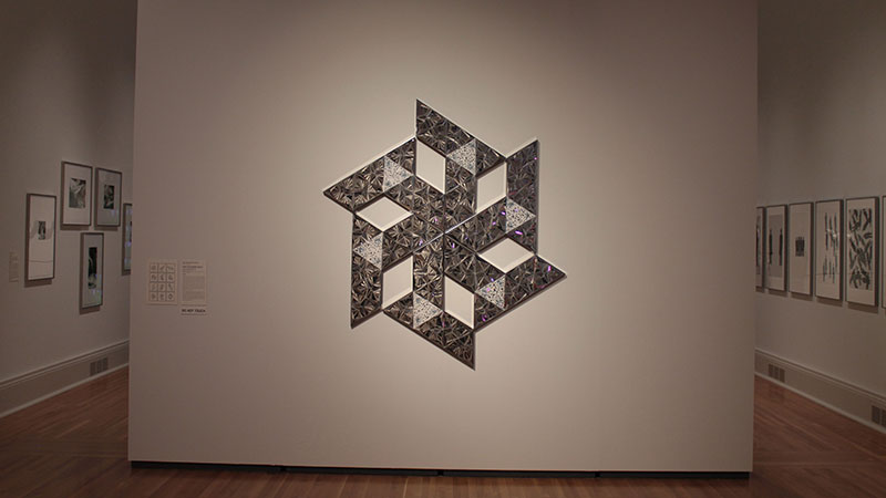 Mixed media by Monir Shahroudy Farmanfarmaian, Iranian.