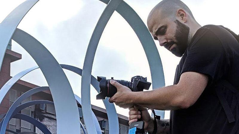 Nick Corbin working. Photo by Aimee Stranyak.