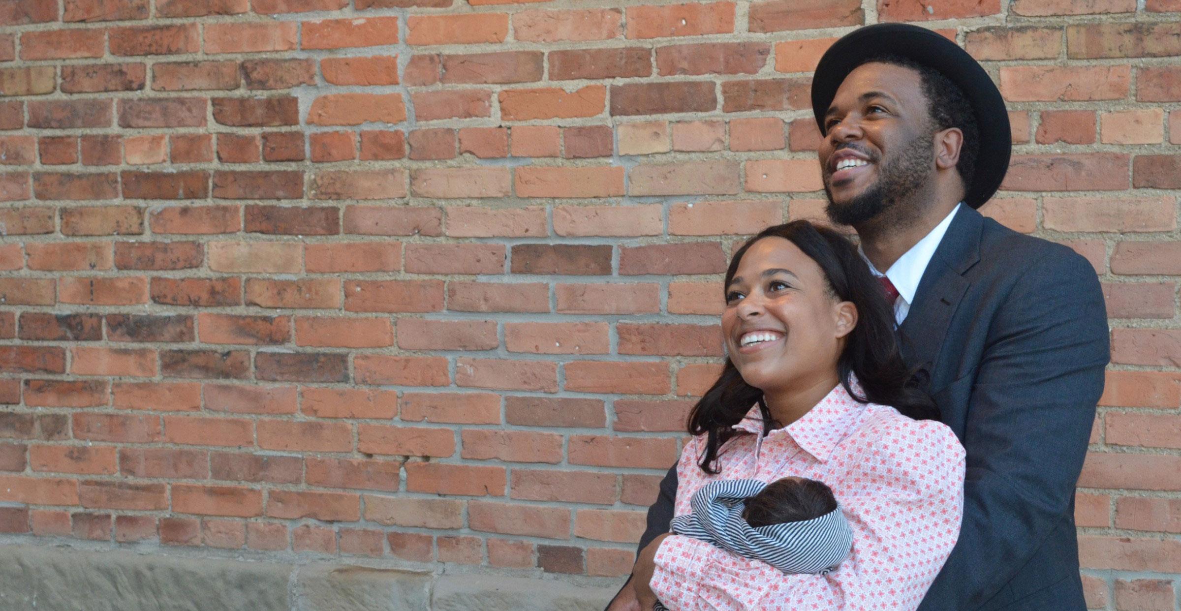 Nickolas Brown and Bryana Hall play Coalhouse Walker Jr. and Sarah in Ragtime.