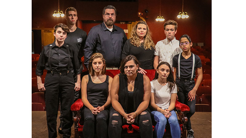 Standing (L to R): Emma Bozanich, Andrew Kleopfer, Heath Huber, Ashleigh Glass, Ben Bascuk, and Isaac Bermudez. Sitting: Sydney Breeding, Amber Wilkes, and Lillian Buck.