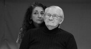Kate Abu-Absi and Dennie Sherer in Heisenberg, a play by British writer Simon Stephens.