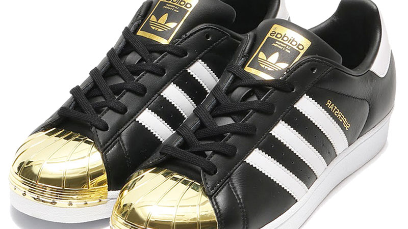 Adidas-Superstar-Metal-Toe-Womens-Black-White-Gold-205-1-7-2-7.5-3-8-2-8.5-1-9-1-9.5