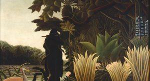 Henri Rousseau's 'The Snake Charmer'.