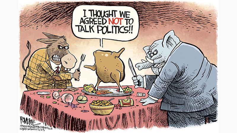 Photo Courtesy(URL: https://www.heraldnet.com/opinion/viewpoint-how-to-bridge-the-political-divide-at-thanksgiving/)
