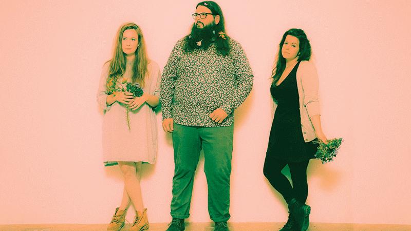 Violent Bloom, from left: Kate Komuniecki, Jon Kenz, Kelly Thompson.