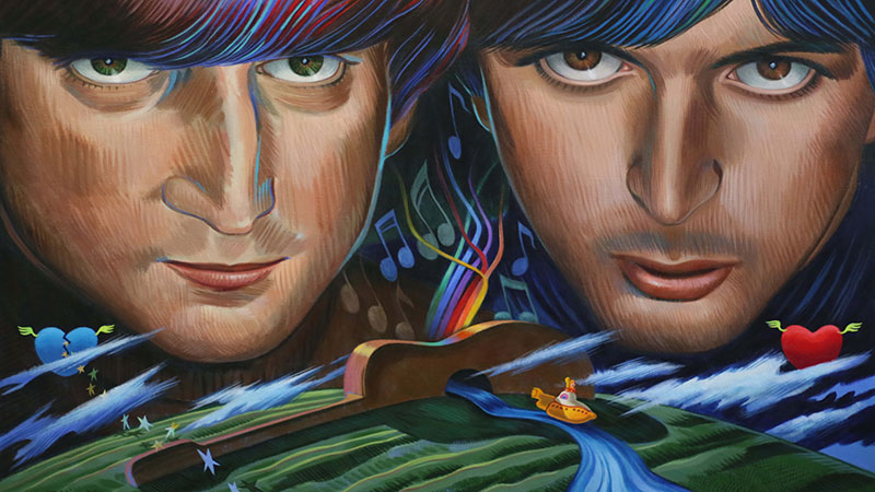 Lennon and McCartney Photos of paintings by Nicole Bergman.