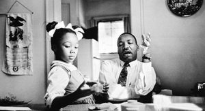 Dr. Martin Luther King, Jr., with his daughter, Yolanda, 1962. James Karales (American, 1930–2002). Vintage gelatin silver print. Image © Courtesy of the Estate of James Karales.