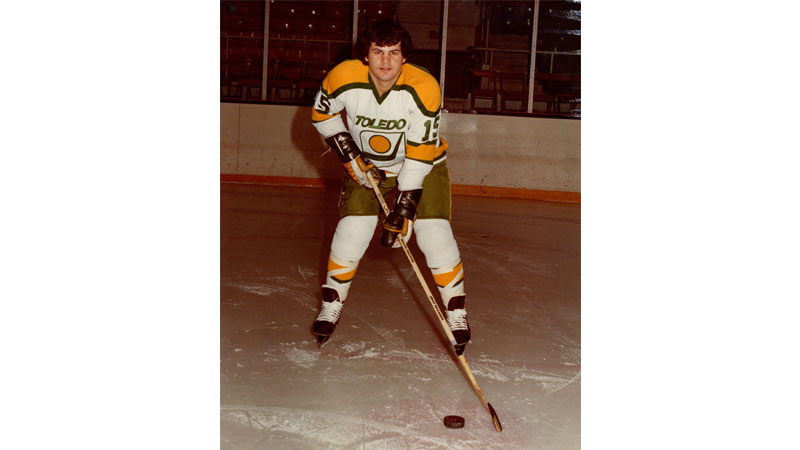"Mike Eruzione, nicknamed ""Rizzo,"" spent two seasons with the Toledo Goaldiggers beginning in 1978, winning the IHL Rookie of the Year Award and leading the team to win the Turner Cup that year."
