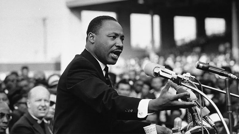 Rev. Dr. Martin Luther King Jr. speaking. Julian Wasser—The LIFE Images Collection/Getty Images