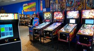 The floor of Dr. Scott's is full of pinball and arcade games both old and new.