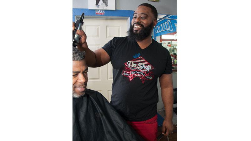 Jamal Grant, owner of Da Shop