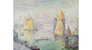 French painter Paul Signac's finished his tranquil seascape painting, The Lagoon of Saint Mark, Venice, in 1905, the same year that French composer Claude Debussy premiered his composition La Mer in Paris. The Toledo Symphony Orchestra will perform La Mer as part of The Majestic Sea.