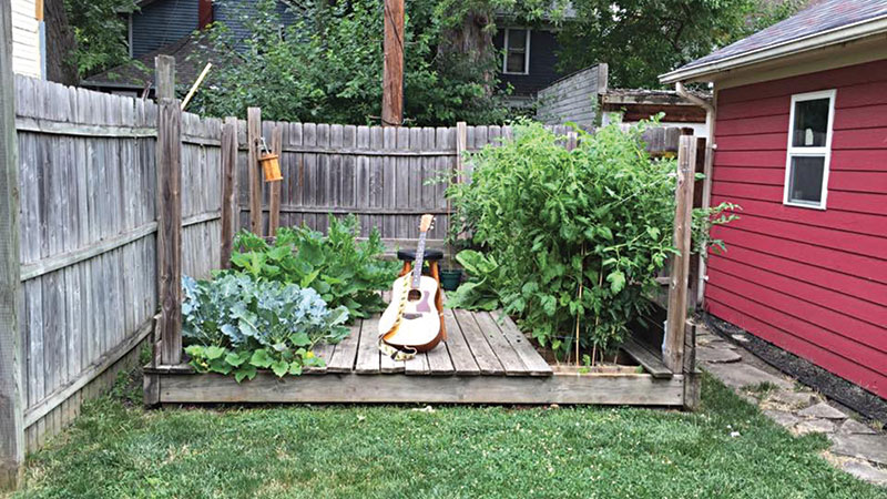Performances at Over Yonder Concert House occur on this small stage  in the backyard. With the lengthened season beginning in April, the venue's  first indoor concerts will take place this year.