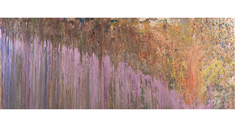 Larry Poons (American, b. 1937), Tantrum II, 1979, acrylic on canvas, 66 x 162 in, Toledo Museum of Art (Toledo, Ohio), Purchased with funds from the Jamar Art Fund of Marvin and Lenore Kobacker and Gift of Dr. and Mrs. Joseph A. Gosman, by exchange, 2019.3 Image courtesy of Yares Art, NY.