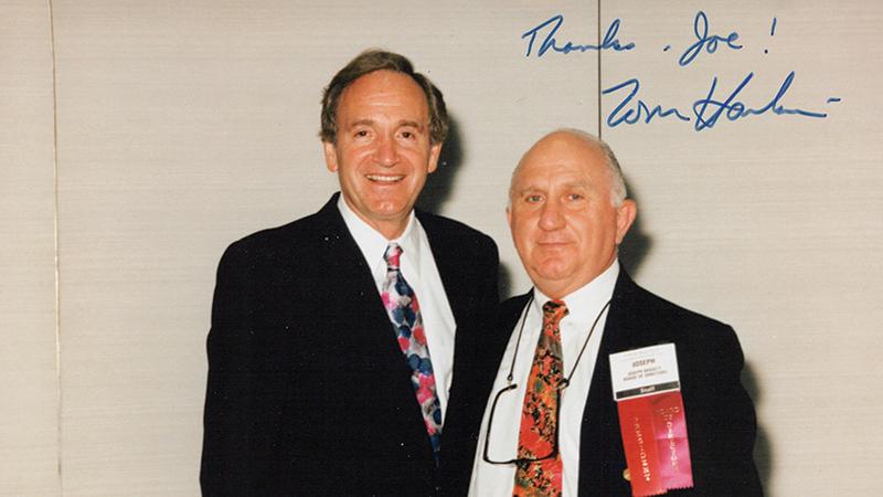 Joseph Bassett with senator Tom Harkin