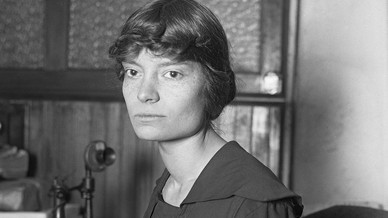 Dorothy Day in 1916 in New York City, where she began writing for Socialist publications.
