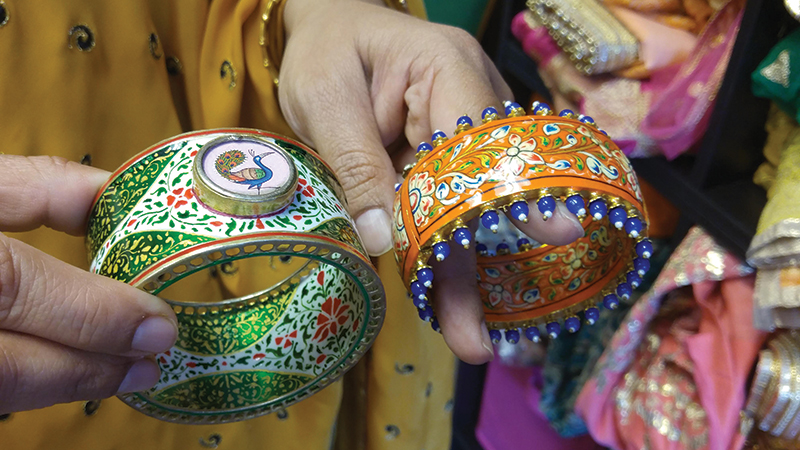 Satrangi_s-jewelry-selection-includes-hand-painted-bangles.