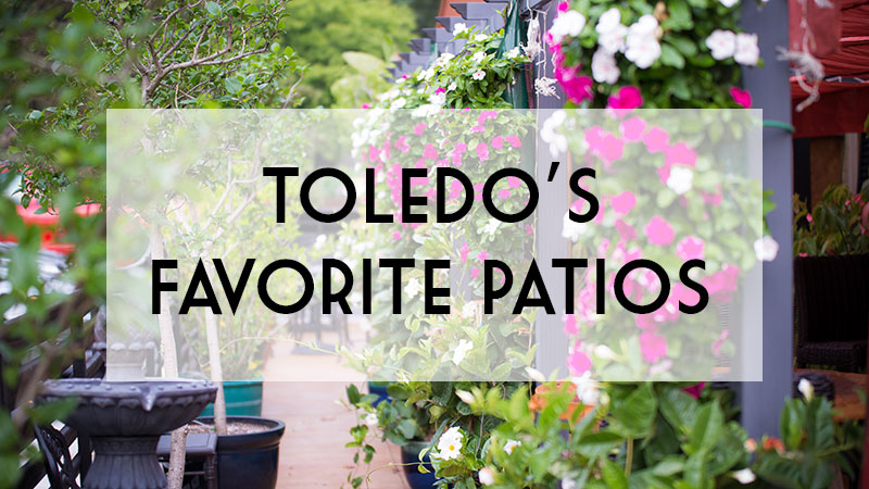 The lush patio at Rosie's Italian Grille.