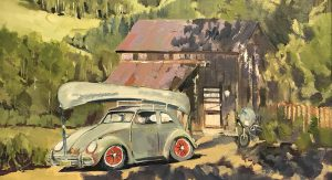 Art-Notes_-Telluride-VW_oil-on-canvas_by-John-Steele_14x18-inches