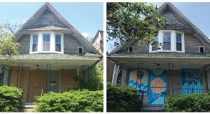 Before and after shots of 1105 N Huron property. Photo Credit: Caroline Jardine.